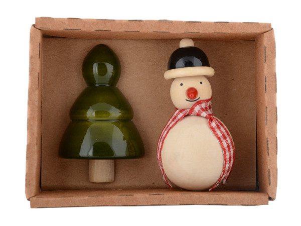 Snowman & Xmas tree Fridge magnet 2