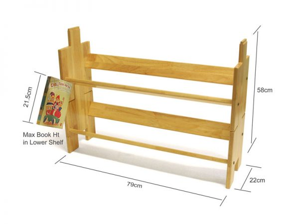 Wooden Stackable Book Shelf – Book Builder Small – 2 Units ( Natural Wood Colour ) 2
