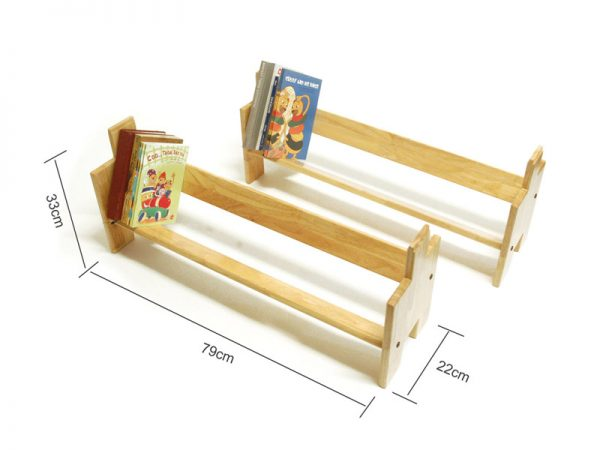 Wooden Stackable Book Shelf – Book Builder Small – 2 Units ( Natural Wood Colour ) 3