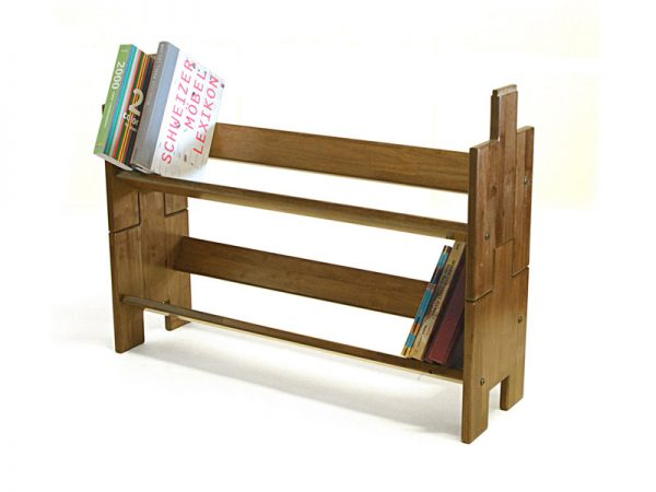 Wooden Stackable Book Shelf – Book Builder Small – 2 Units ( Walnut Colour ) 1